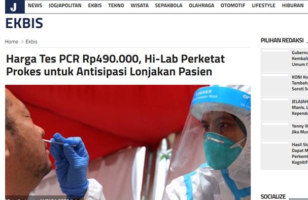 Harga Tes PCR Rp490.000, Hi-Lab Perketat Prokes untuk Antisipasi Lonjakan Pasien