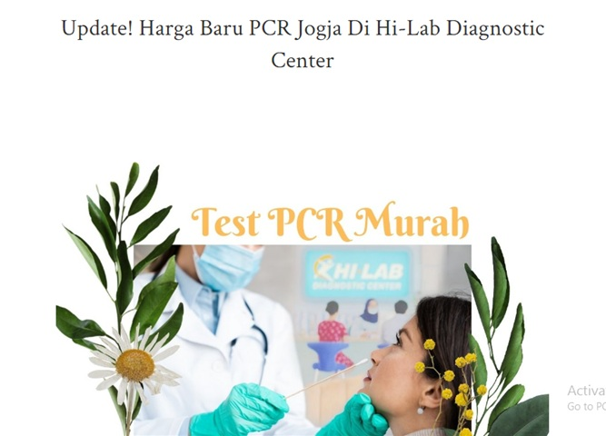 Update! Harga Baru PCR Jogja Di Hi-Lab Diagnostic Center